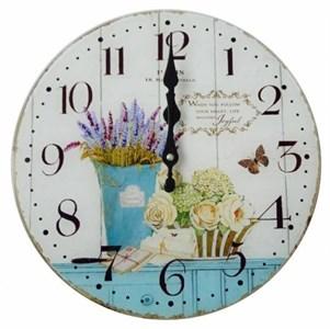 "Часы настенные ""Натюрморт с лавандой"", диаметр 30 см"