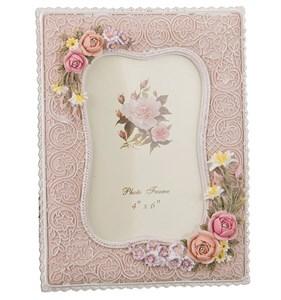 """Фоторамка """"Розовые розы"""" для фотографии 10х15 см"""