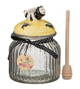 "Банка для сыпучих и меда ""Пчелка"" 750 мл с лопаткой"