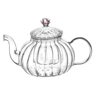 """Чайник """"Розочка"""" заварочный стеклянный 600 мл"""