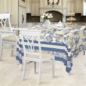 """Скатерть """"Синие цветы"""" 145х145 см"""
