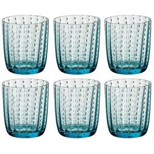 Набор синих стаканов 400 мл из цветного стекла