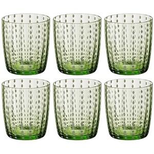Набор зеленых стаканов 400 мл из цветного стекла