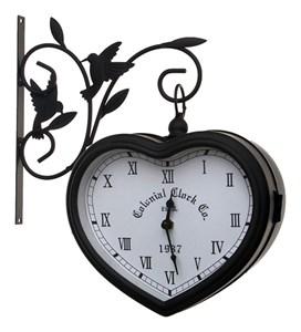 """Часы настенные подвесные двухсторонние """"Сердце"""""""