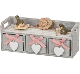 """Шкатулка """"Три сердца"""" с ящиками"""