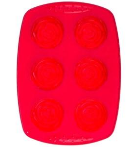 Силиконовая форма для выпечки пирожных/кексов в виде розочек