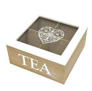 Шкатулка для чая на четыре отделения