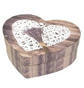 """Коробка средняя """"Лавандовое сердце"""""""