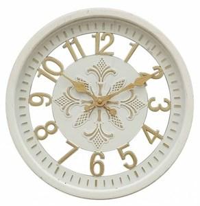 """Часы настенные """"Цифры"""" белые диаметр 30 см"""