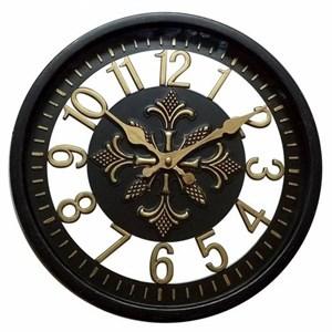 "Часы настенные ""Цифры"" черные диаметр 30 см"