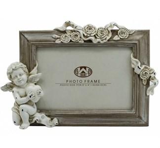 """Фоторамка """"Ангел с розами"""" для фотографии 10х15 см"""
