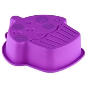 """Силиконовая форма для выпечки """"Кекс"""" 15х4 см, цвет в ассортименте"""