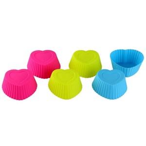 Набор из 6 силиконовых форм для выпечки в ассортименте
