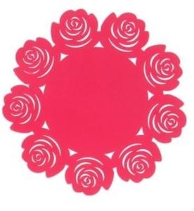 Силиконовая подставка розовая, диаметр 20 см