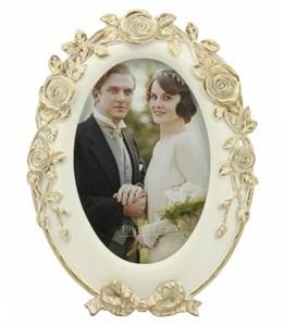 """Фоторамка овальная """"Золотые розы"""" для фотографии 10х15 см"""