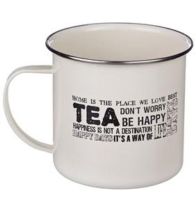 """Кружка """"Чай"""" 500 мл металлическая"""