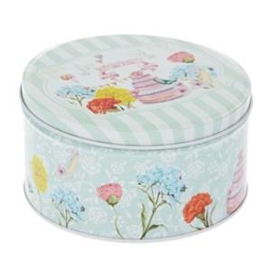 """Шкатулка """"Цветочный торт"""" металлическая диаметр 13,5 см"""