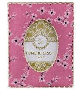 Фоторамка текстильная для фотографии 10х15 см розовая