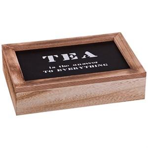 Шкатулка на шесть отделений для чайных пакетиков