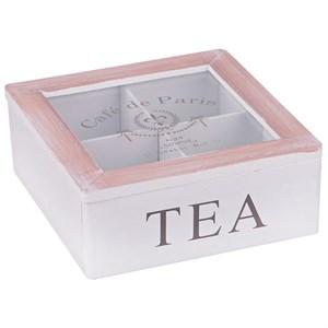 Шкатулка на четыре отделения для чайных пакетиков