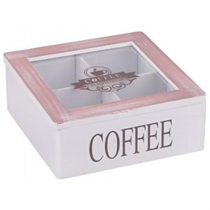 Шкатулка на четыре отделения для кофе