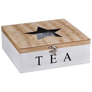 Шкатулка на девять отделений для чайных пакетиков