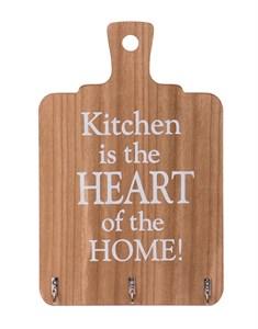 """Панно с крючками """"Кухня сердце дома"""""""