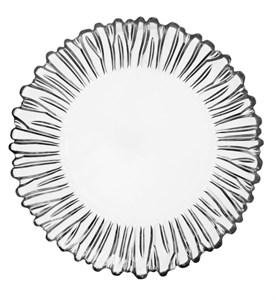 Тарелка стеклянная диаметр 21 см