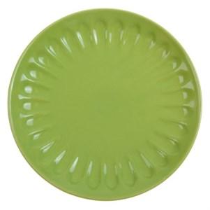Тарелка рифленая зеленая диаметр 21 см