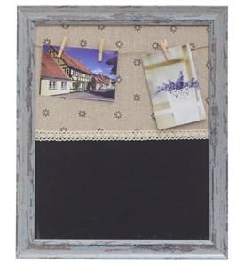 Доска для записей с подвесными фотографиями