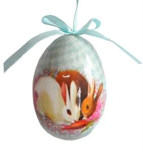 """Пасхальное яйцо на ленте """"Кролики"""" 14х11 см"""