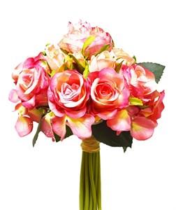 Букет искусственных розовых цветов