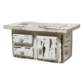 Ящик-кашпо с подкладкой состаренный