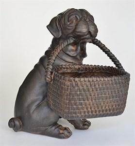 """Статуэтка """"Собака с корзиной"""""""
