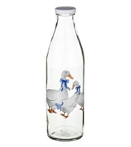 """Бутылка стеклянная """"Гусиное семейство"""" 1000 мл"""