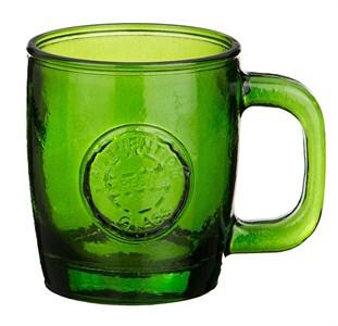 """Кружка """"Испания"""" из зеленого цветного стекла 360 мл"""