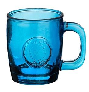 """Кружка """"Испания"""" из синего цветного стекла 360 мл"""