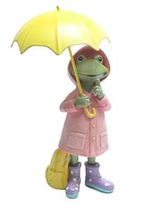 "Статуэтка ""Лягушка под желтым зонтом"""