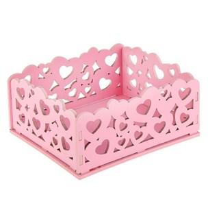 """Ящик деревянный """"Резной розовый"""" 17х15 см"""