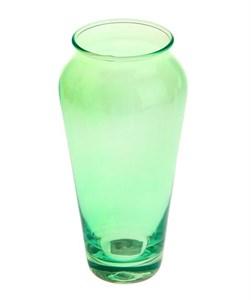 Ваза стеклянная зелёная 650 мл