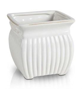 Кашпо рифленое керамическое