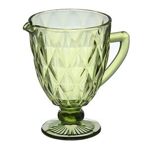 """Кувшин стеклянный """"Клетка"""" зеленый"""