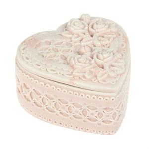 """Шкатулка """"Розовое сердце"""" 8х7,5 см"""