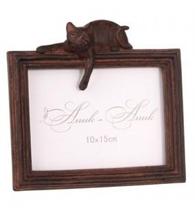 """Фоторамка горизонтальная """"Кошка"""" для фотографии 15х10 см"""