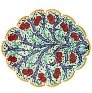 """Блюдо керамическое """"Ветка с ягодами"""" диаметр 31 см"""
