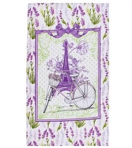 "Полотенце вафельное ""Лаванда Парижа"" 35х60 см"