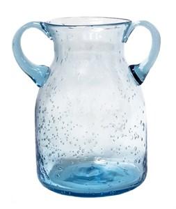 Ваза стеклянная голубая