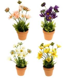 Цветок искусственный в горшке в ассортименте, высота 20 см