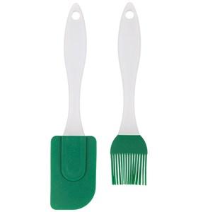 Набор из кисточки и лопатки зеленый