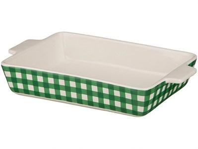 """Блюдо для запекания """"Зеленая клетка"""" 32х20 см"""